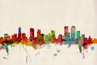 Denver Colorado Skyline Prints by Michael Tompsett