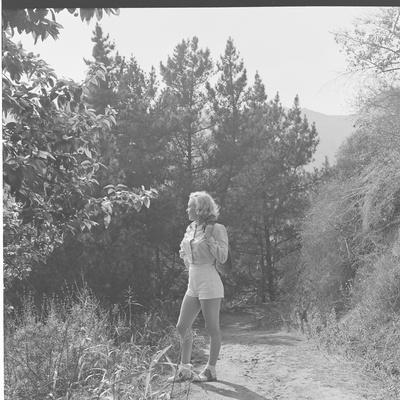 Marilyn Monroe in California Premium Photographic Print by Ed Clark