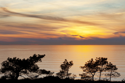 Sunset on Ocean, La Jolla, California, USA Stampa fotografica di  Jaynes Gallery