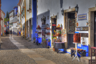 Street Along Obidos, Leiria, Portugal Photographic Print by Julie Eggers