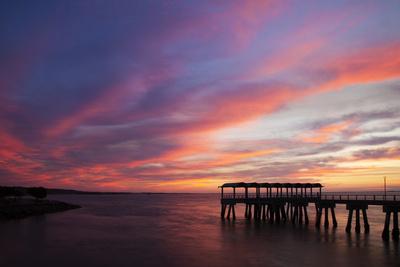 Fishing Pier at Sunset, Jekyll Island, Georgia, USA Photographic Print by Joanne Wells