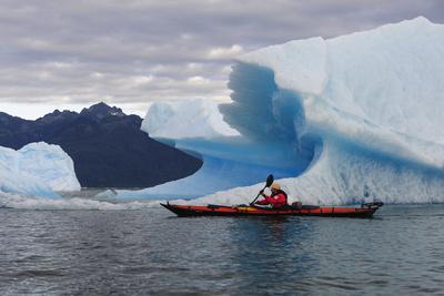 Sea Kayaking Among Icebergs, Laguna San Rafael NP, Aysen, Chile Photographic Print by Fredrik Norrsell