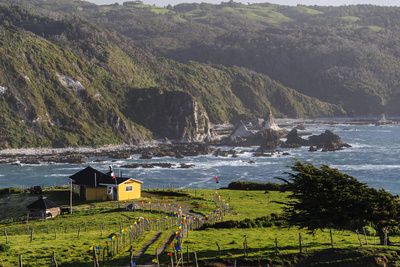 Coastal View, Punihuil, Chiloe, Region Los Lagos, Chile Photographic Print by Fredrik Norrsell