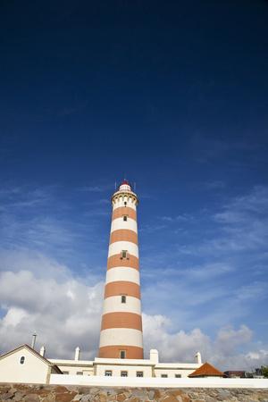 Barra Lighthouse, Costa Nova, Aveiro, Portugal Photographic Print by Julie Eggers