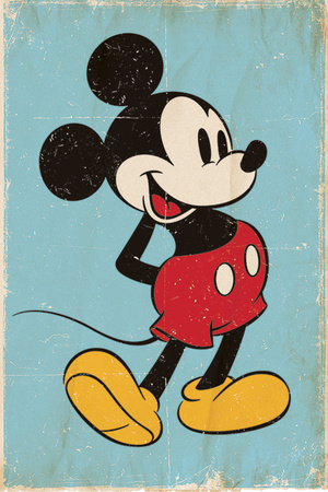 Mickey Mouse - Retro Plakater