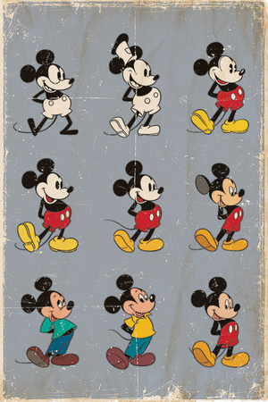 Mickey Mouse - Evolution Posters