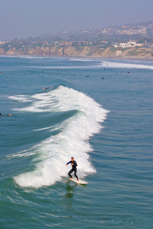 Surfers, Pacific Beach, San Diego, California, USA Photographic Print by Peter Bennett