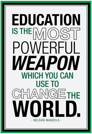 Education Nelson Mandela Quote Poster