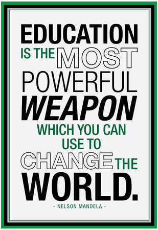 Nelson Mandela motivation quote about education poster