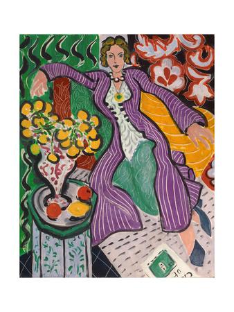 Woman in a Purple Coat, 1937 ジクレープリント : アンリ・マティス