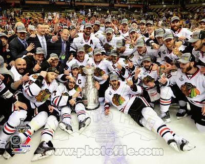 Chicago Blackhawks - Hossa, Keith, Toews, Sharp, Bickell, Crawford, Carcillo, Kane, Saad Photo Photo