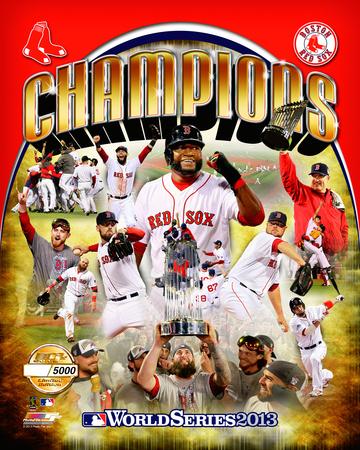Boston Red Sox - Ortiz, Peavy, Lester, Victorino, Buchholz, Uehara, Pedroia, GomesLackey, Napoli, F Photo