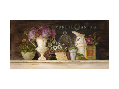 Marche Antica Vignette Posters by Angela Staehling