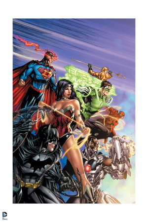 Justice League of America JLA comic book poster artwork