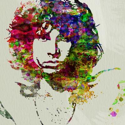 Jim Morrison Watercolor Print by  NaxArt
