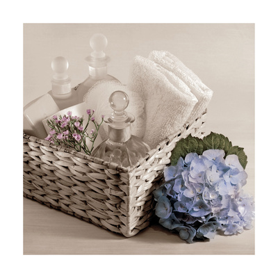 Hydrangea and Basket 2 Posters by Julie Greenwood
