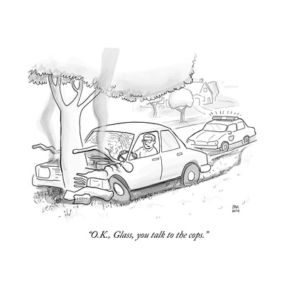 """O.K., Glass, you talk to the cops."" - Cartoon Giclee Print by Paul Noth"