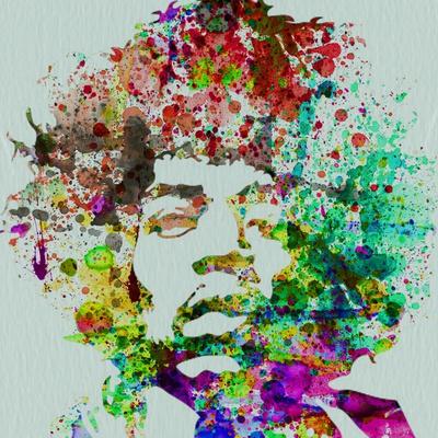 Hendrix Watercolor Poster van  NaxArt