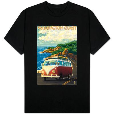 Washington Coast Drive with Lighthouse Shirts