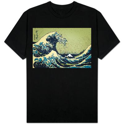 8-Bit Art Great Wave T-Shirt