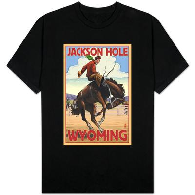 Jackson Hole, Wyoming Bucking Bronco T-shirts