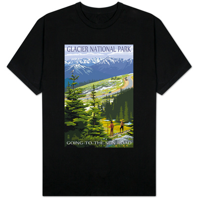 Glacier National Park - Going to the Sun Road and Hikers Shirts