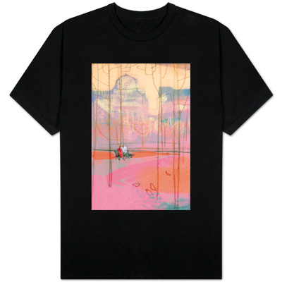 Couple on Park Bench T-shirts