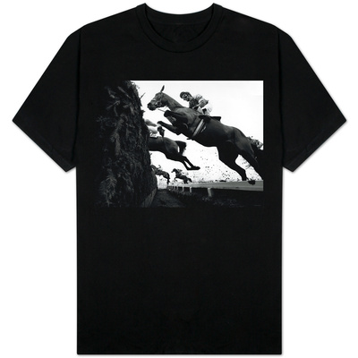 Grand National April 1987 Horses Jumping the Chair at Aintree T-Shirt