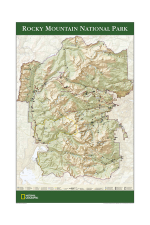 2005 Rocky Mountain National Park Map Print by  National Geographic Maps