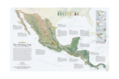 2007 The Dividing Link, Mexico and Central America Posters by  National Geographic Maps