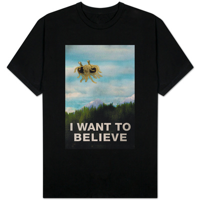 Flying Spaghetti Monster - I Want To Believe Shirts