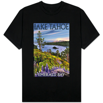 Lake Tahoe, California - Emerald Bay T-shirts