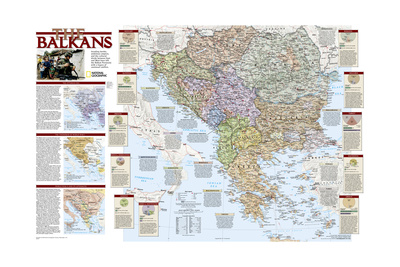 2008 Balkans Conflict Map Prints by  National Geographic Maps
