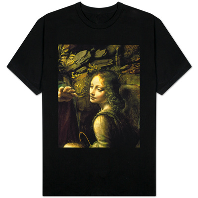 The Virgin of the Rocks (The Virgin with the Infant St. John Adoring the Infant Christ) T-shirts