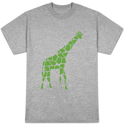 Green Reticulated T-shirts