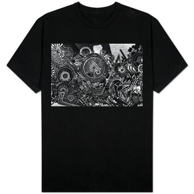 Williamsburg Brooklyn Psychedelic Graffiti B&W T-shirts