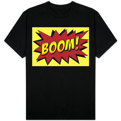 Boom! Comic Pop Art T-shirts