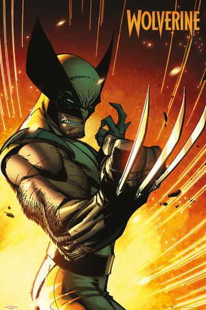 Marvel extreme Wolverine superhero comic book poster