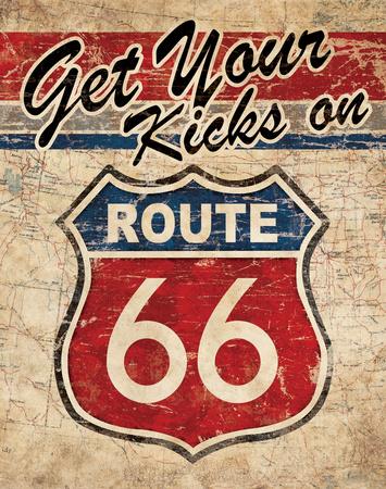 Route 66 II Art by N. Harbick