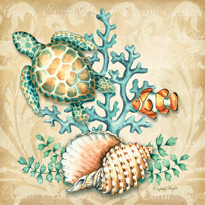 Sea Life I Prints by Sydney Wright