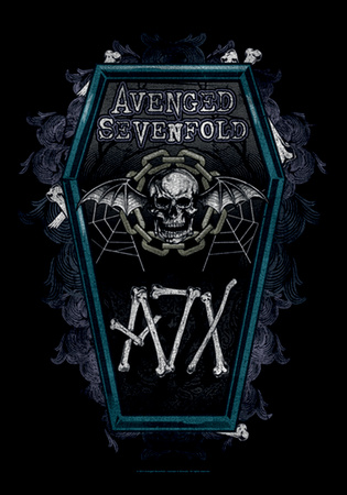 Avenged Sevenfold - Coffin Fabric Poster Print