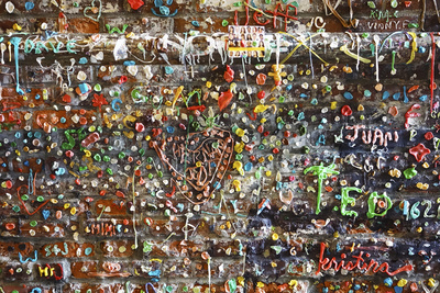 Bubble Gum Wall 1 Photographic Print by Mimi Payne