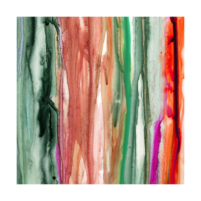 Green Pink Drips A Giclee Print by Tracy Hiner