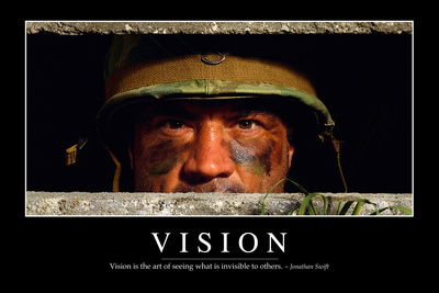 Vision: Inspirational Quote and Motivational Poster Photographic Print