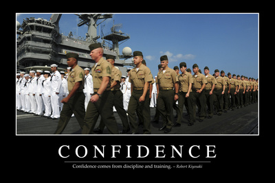 Confidence: Inspirational Quote and Motivational Poster Photographic Print