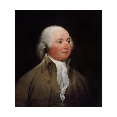 Digitally Restored American History Painting of President John Adams Prints