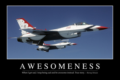 Awesomeness: Inspirational Quote and Motivational Poster Fotoprint