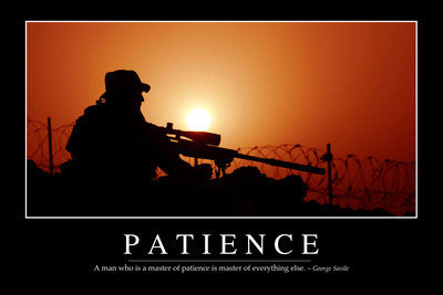 Patience: Inspirational Quote and Motivational Poster Photographic Print