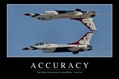 Accuracy: Inspirational Quote and Motivational Poster Photographic Print