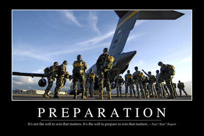 Preparation: Inspirational Quote and Motivational Poster Photographic Print